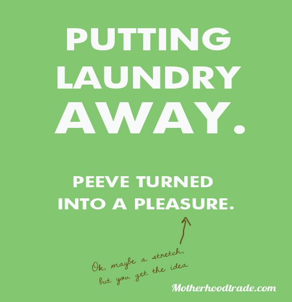Put Clean Clothes Away ~ Putting away laundry tricks of the motherhood trade